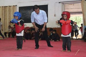 Wing Chun Kids Ready to Fight.