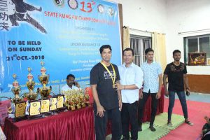 Wing Chun student in championship.